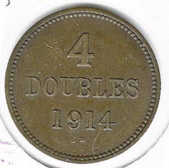 Gurnsey 1914-H 4 Doubles VF+