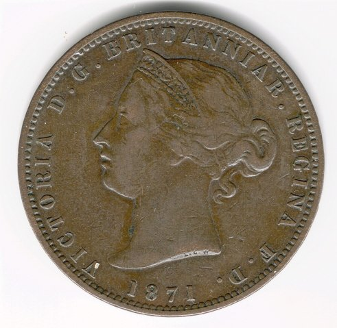 Jersey 1871 1/13th of a Shilling
