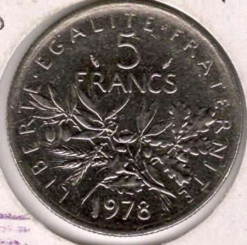 1978 5 Francs XF