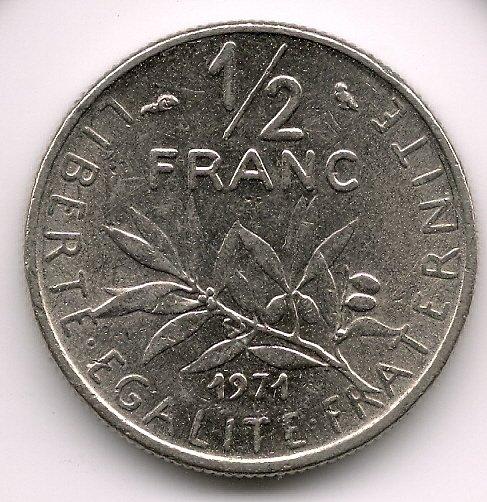 1971 50 cents Aunc