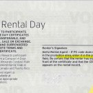 Hertz Car Rental Free Day Coupon / Certificates / Voucher Expires 07/31/17