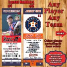 Baseball MLB Birthday Invitations 10 ea with Envelopes Personalized ANY Team