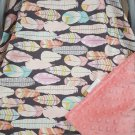 Feathers/Coral Carseat Canopy