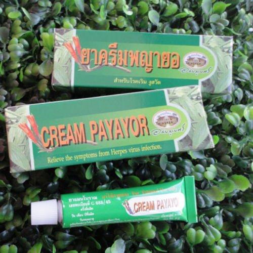 10g. Thai Natural Cream PAYAYOR Relieve Symptoms Herpes Virus Infection Skin