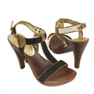Wood Platform Sandals