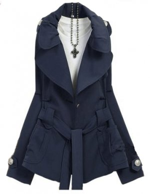 BLUE WALDA COAT