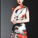 High Quality Vintage Fashion Women Vestidos Summer boho Floral Print MIni Dress