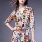 silk dress/women dress/summer dress/print dress/beach dress/party dresses/casual dress