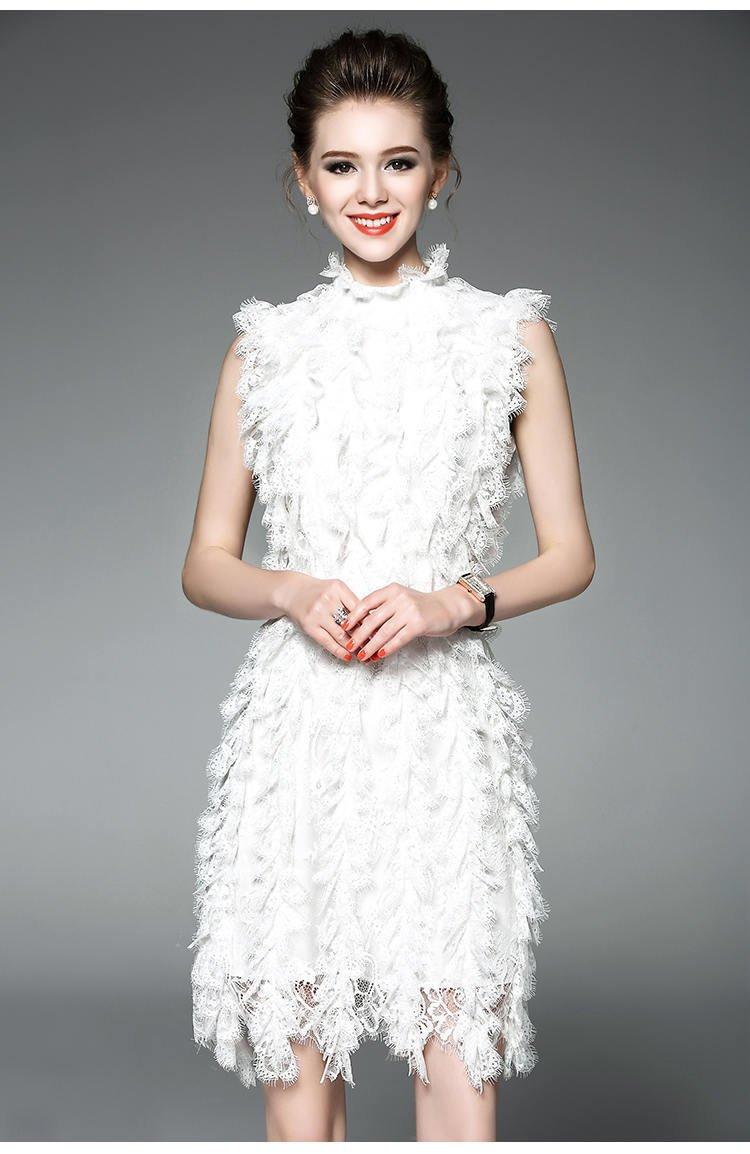 floral dress/summer dress/runway dress/vintage dress/lace dress/sleeveless beach dress/white dress