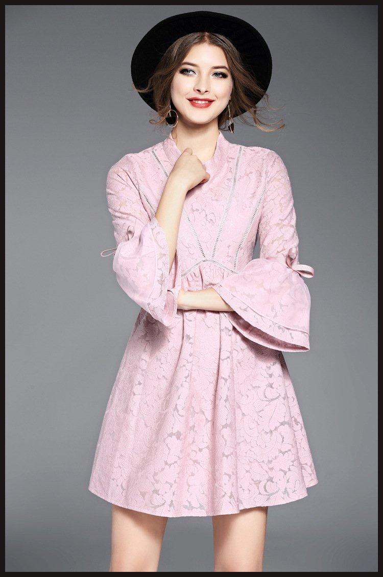 vestidos/vintage dress/pink lace dress/casual summer dress/evening beach dress/floral midi dress