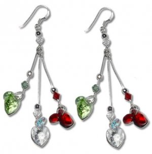 Swarovski Hearts Crystal Chandelier Earrings