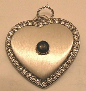 Pendant Genuine Star Sapphire with simulated diamonds