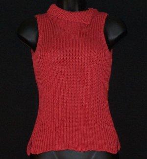 J CREW Sleeveless Ladies Russet Red Sweater