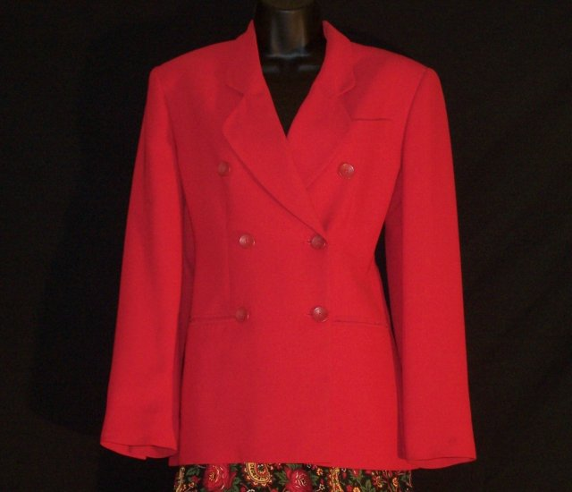 Jones Wear New York Double Breasted Blazer & Paisley Skirt Set