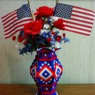4th of July Vase