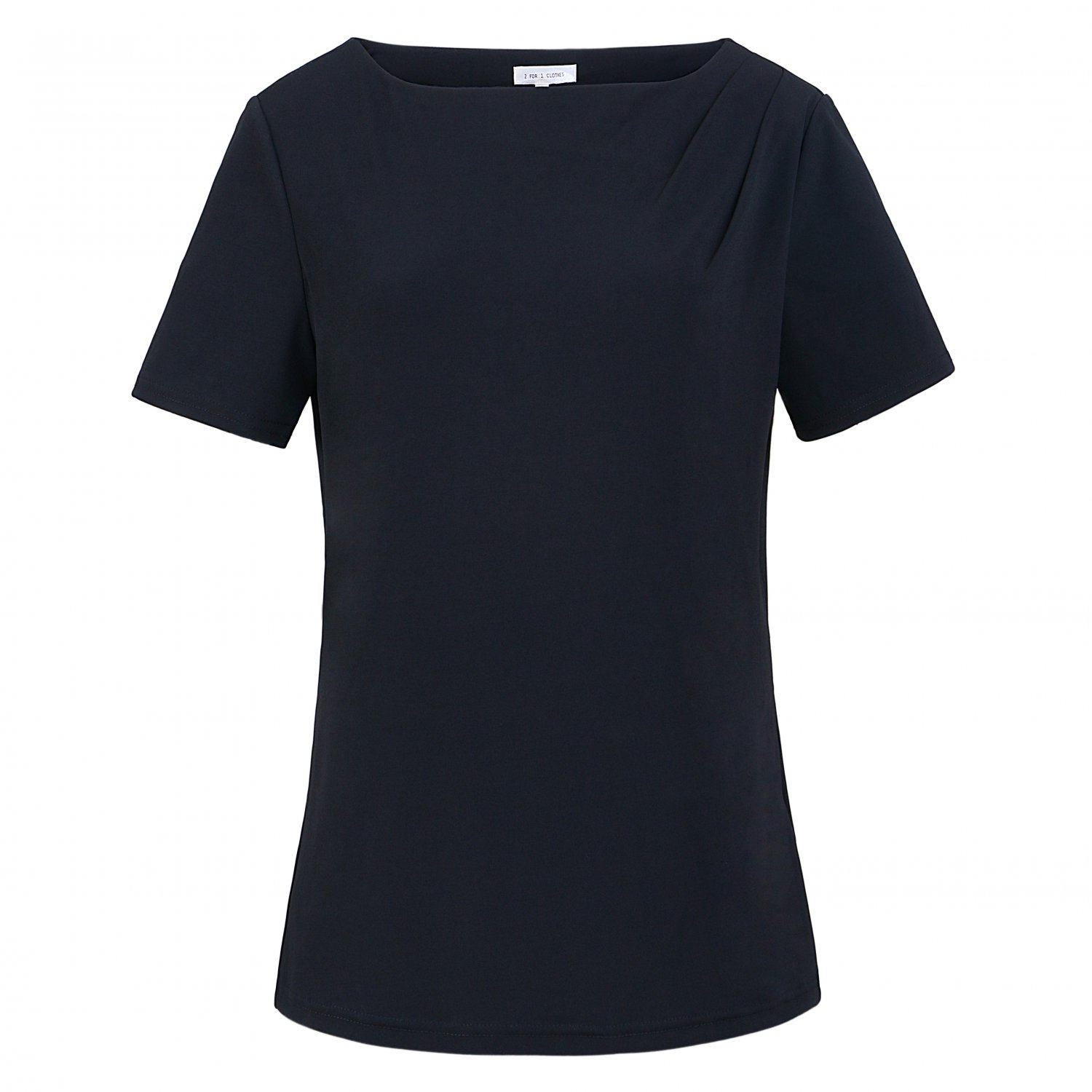 2 FOR Clothes Short Sleeve Jersey Knit Top,S,M,L,XL