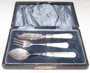 Sterling Silver Relish Set W/ Original Case