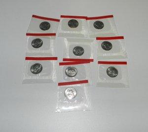 2005 D Roosevelt Dimes in Original Mint Wrap (10 ea)