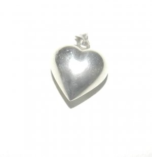 Sterling Silver Puffy Heart Charm