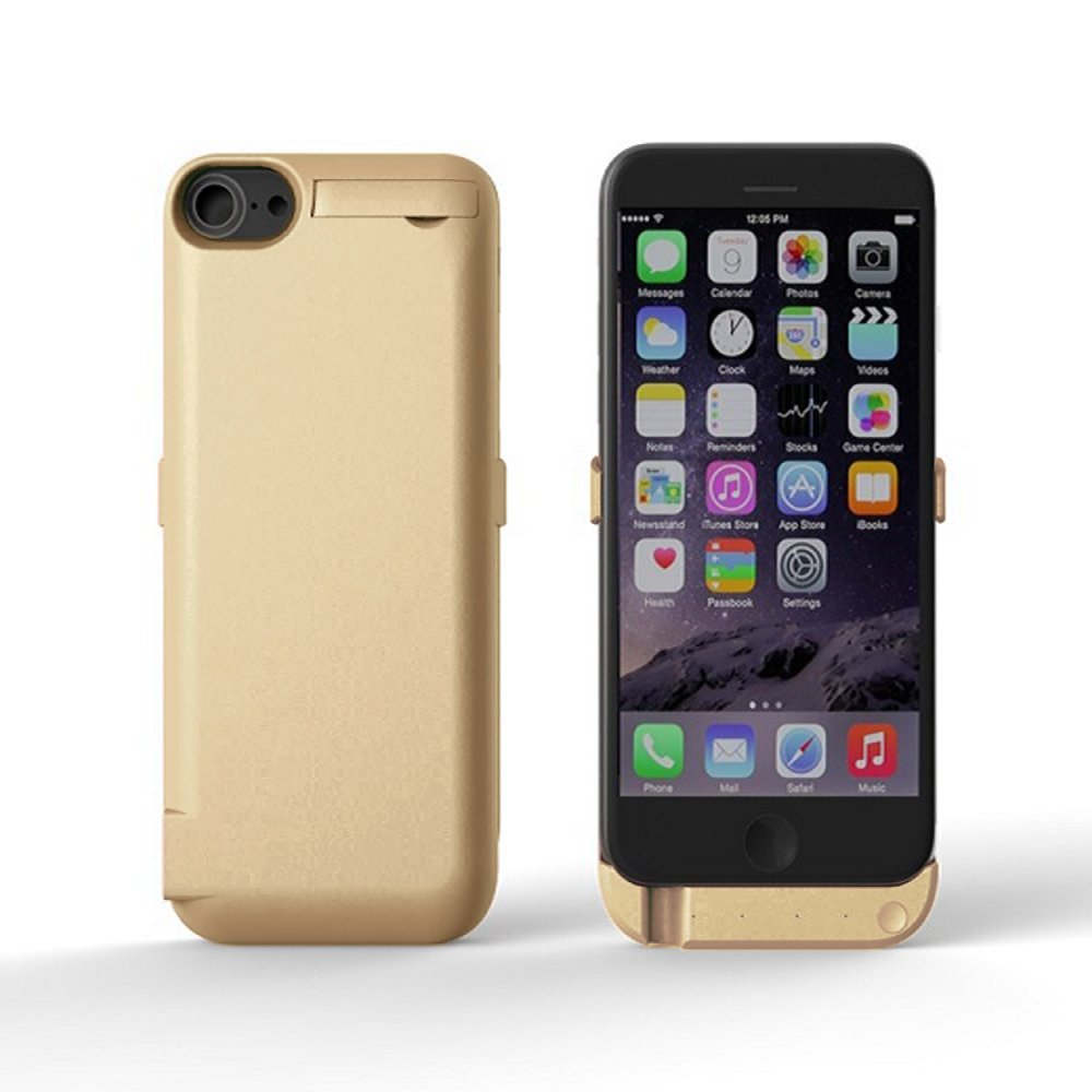 iPhone 6 Battery Case Pack, Charging Case 6800mAh - External Battery Back up Gold