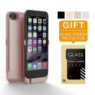 iPhone 6 Battery Case Pack, Charging Case 6800mAh - External Battery Back up Rose Gold