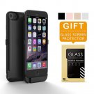 iPhone 6 Battery Case Pack, Charging Case 6800mAh - External Battery Back up Black Glossy