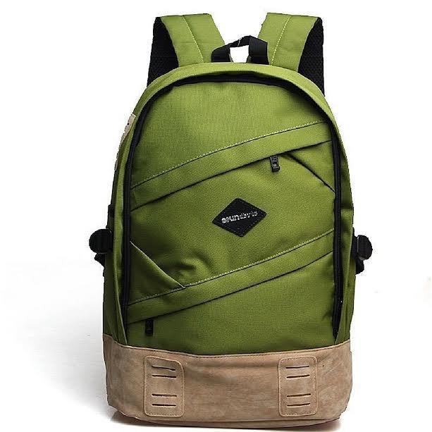 Laptop Backpacks, School Canvas Backpack Rucksack Daypack Bag Travel Sports Green