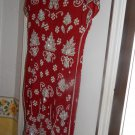 RED & WHITE & SILVER FORMAL BEAUTIFUL DRESS-BEADED any occassion dress. SIZE 10