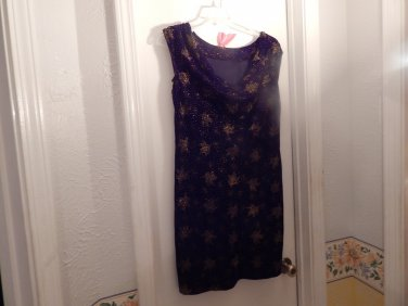 BLACK w/GOLD  VELVET Dress sizes 10 dress