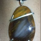 Petrified wood or Jasper Sterling silver Pendant