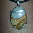 "Landscape Jasper pendant sterling silver 1 1/2"""