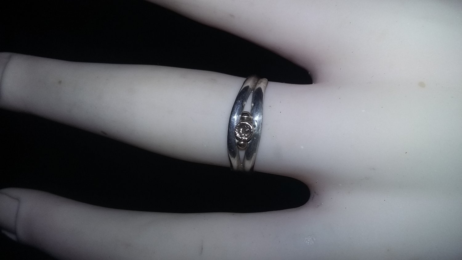 Sterling silver & gold ring size 5 one of a kind