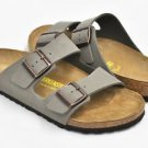 Birkenstock Arizona in Stone, Birko-Flor Nubuck, 0151213, Narrow Fit, NWT