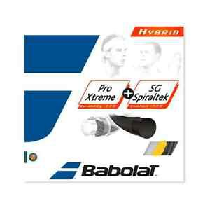 Babolat Pro Xtreme 17 + SG Spiraltek 16, Black and Yellow, 5 PACKAGES , NWT