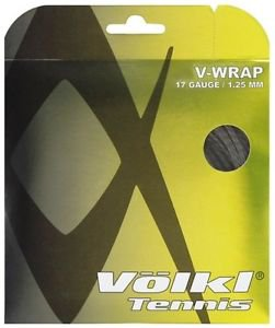Volkl V-Wrap 17g, Natural/Black Spiral, 5 Packages of Tennis String, NWT