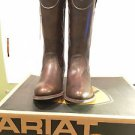 "Ariat Women's Bluebell Cowboy Boots -12"", Almond Toe, Brushed Brown, Size 10 NWT"