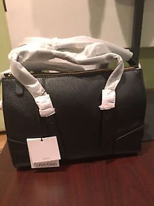 Calvin Klein Leather Handbag, H3JDA1XW, Black,  NWT
