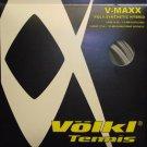 Volkl V-Maxx(V-Pro 18g-Silver)(V-Wrap 17g-Black Spiral),5 Packs String, NWT