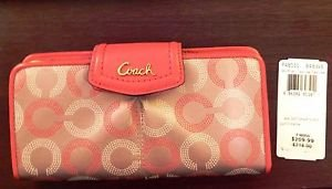 Coach Ashley Dotted Op Art  Slim Envelope Wallet, F48050, NWT-9