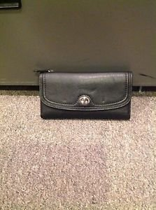 Coach Park Leather Checkbook Wallet, Black, NWT 2