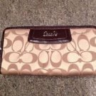 Coach Signature Sateen Pleated Zip Around Wallet, NWT-3