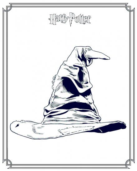Harry Potter childrens coloring ebook 80+pages!