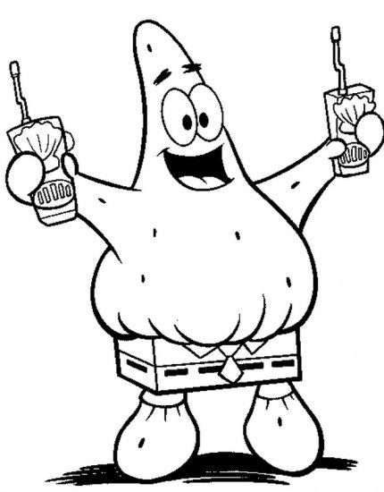 Sponge Bob Square Pants coloring ebook 60 pages!