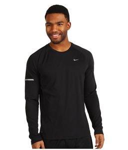 Nike Men's Dri-Fit Miler UV Long Sleeve Reflective Running Shirt 744710