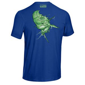 Under Armour Men's UA NIGHTMARE Fish Tee - Bass Sailfish Mahi or Marlin
