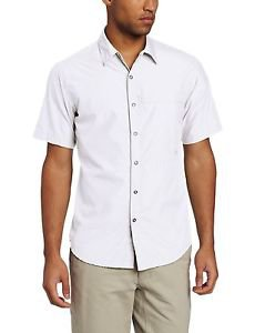Exofficio Men's Trip'r Short Sleeve Shirt (Small, White) 1002-1714