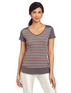 Lole Women's $50 Pleasing Short Sleeve Top - Storm Stripe sz XS S M L LSW0641