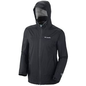 Columbia Men's Tracer Racer Soft Shell Waterproof Rain Jacket - Black XL SM2265