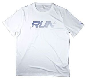 Under Armour Men's UA RUN Heatgear Knit Fitted SS Tee Shirt - 1262489
