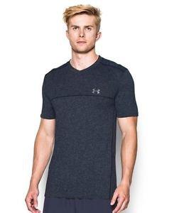 Under Armour Men's UA Run Seamless V-Neck T-Shirt (Large, Midnight Navy) 1275960